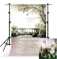 Kate Scenic White Flowers Photography Backdrops 5x7ft Family Natural Garden Balcony Photo Background Children Baby Show Backdrop for Shooting