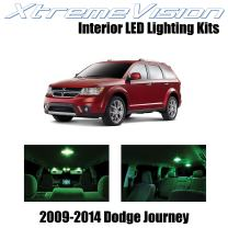 Xtremevision Interior LED for Dodge Journey 2009-2014 (7 Pieces) Green Interior LED Kit + Installation Tool