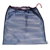"""Laundry Bag – Eco-Friendly Reusable Mesh Travel Organizer for Clothes – Machine Wash with Drawstring – 24"""" x 24"""" (Navy)"""