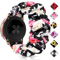 Huishang 20mm 22mm Quick Release Watch Bands, Elastic Scrunchie Watch Band for Women(Red Rose,20/22mm)
