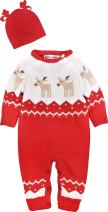 ZOEREA Newborn Baby Romper Christmas Clothes Knitted Sweaters Reindeer Outfit