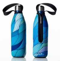 BBBYO Future Bottle + Carry Cover (Tide Print), Blue, 750 ml/25 oz