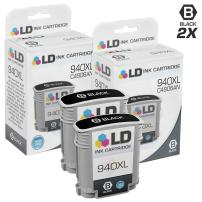 LD Remanufactured Ink Cartridge Replacement for HP 940XL C4906AN High Yield (Black, 2-Pack)