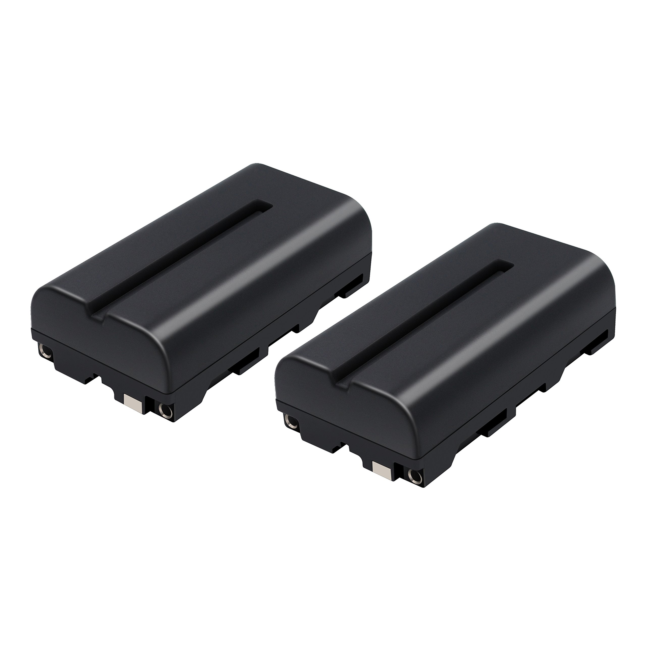 TURPOW NP-F550 NP-F570 NP-F530 NP-F330 Battery [ 2 Pack, 2900mAh ] Compatible with Sony CCD-RV100 CCD-RV200 CCD-SC5 CCD-SC6 CCD-SC55 CCD-SC65 CCD-TRV66 CCD-TRV67 DCM-M1 DCR-SC100 LED Video Light