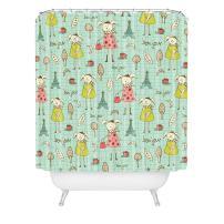 Deny Designs Heather Dutton Bonjour Lapin Shower Curtain, 69 x 72