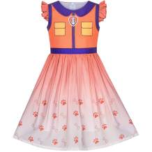 Sunny Fashion Girls Dress Paw Marshall Costume Patrol Halloween Party Size 3-7