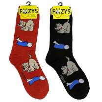 Foozys Women's Crew Socks | Cute Animal Themed Fashion Novelty Socks | 2 Pair
