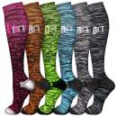 QUXIANG Compression Socks for Men and Women, Sports Plantar Fasciitis Arch Support Running Gym Knee High Stamina Socks