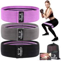 Resistance Bands for Legs and Butt, Exercise Bands Set Booty Bands Hip Bands Wide Workout Bands Resistance Loop Bands Anti Slip Circle Fitness Band Elastic (Set 3)