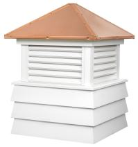 "Good Directions Dover Vinyl Shiplap Cupola with Copper Roof 36"" x 48"""