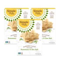 Simple Mills Almond Flour Crackers, Rosemary & Sea Salt, Gluten Free, Flax Seed, Sunflower Seeds, Corn Free, Better for you Snacks, Made with whole foods, 3 Count, (Packaging May Vary)