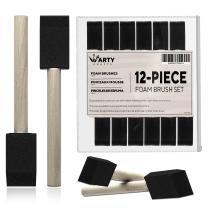 ARTY KRAFTS 1 inch Foam Brush 12 Pieces Sponge Brushes for Painting, Foam Brushes for Painting, Foam Paint Brush, Sponge Paint Brush for Crafts and Foam Art