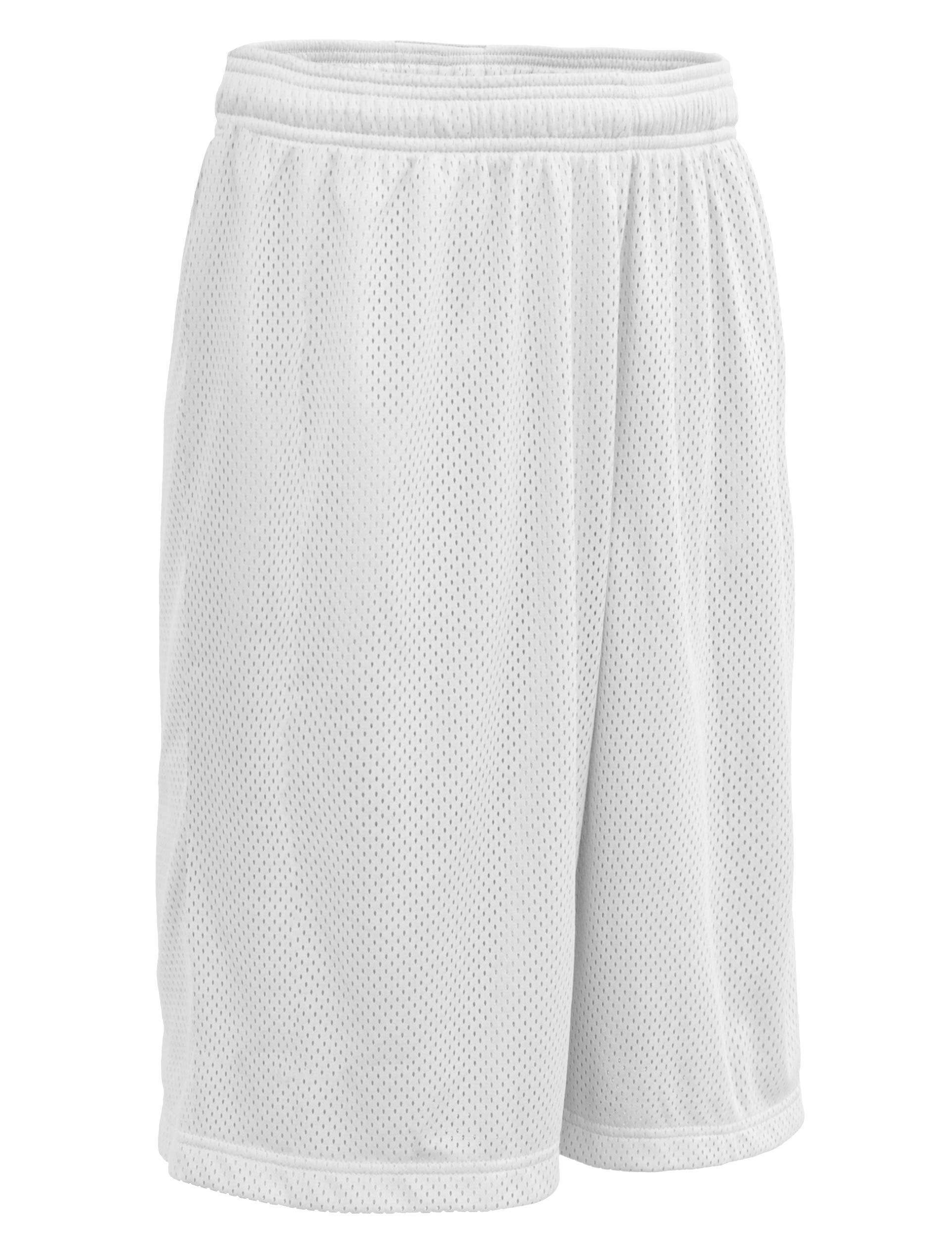 ViiViiKay Men's Athletic Basketball Shorts - Mesh Workout Gym Shorts with Pocket MESH_White M