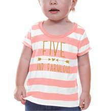 Bump and Beyond Designs Fifth Birthday Shirt Girl Fifth Birthday Outfit