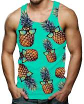 RAISEVERN Men's Funny Tank Tops 3D Printed Cool Graphic Sleeveless Novelty Gym Workout T-Shirt