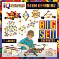 IQ BUILDER   STEM Learning Toys   Creative Construction Engineering   Fun Educational Building Blocks Toy Set for Boys and Girls Ages 5 6 7 8 9 10 Year Old +   Best Toy Gift for Kids   Activity Game