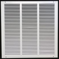 """4"""" x 18"""" Return Air Grille - Sidewall and Ceiling - HVAC Vent Duct Cover Diffuser - [White] [Outer Dimensions: 5.75w X 19.75""""h]"""
