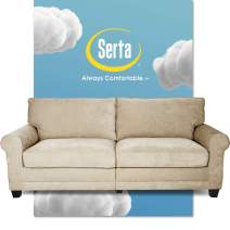 """Serta Copenhagen Sofa Couch for Two People, Pillowed Back Cushions and Rounded Arms, Durable Modern Upholstered Fabric, 73"""", Tan"""