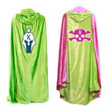 Everfan Personalized Hooded Cape for Adults | Cloak Cape with Hood for Cosplay | Customize with Emblem and Initial