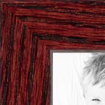 ArtToFrames 10x32 inch Cherry on Red Oak Wood Picture Frame, 2WOM0066-1343-YCHY-10x32