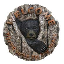 BLACK FOREST DECOR Bear Cubby Hole Welcome Sign