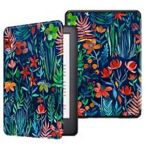 Fintie Slimshell Case for All-New Kindle (10th Generation, 2019 Release) - Lightweight Premium PU Leather Cover with Auto Sleep/Wake (NOT Fit Kindle Paperwhite or Kindle 8th Gen), Jungle Night