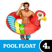 BigMouth Inc Giant Parrot Pool Float, Fun, Durable Swim Tube, Patch Kit Included