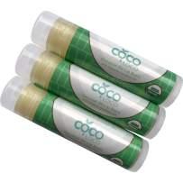 Coco Loco Coconut Oil Lip Balm - All Natural Lip Balm - Organic Coconut Lip Oil - Made in the USA (3 Pack)