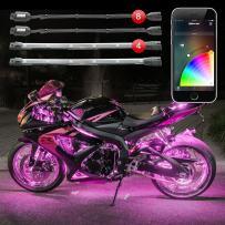 XK Glow KS-MOTO-STANDARD Standard Chrome App Controlled Light Kit