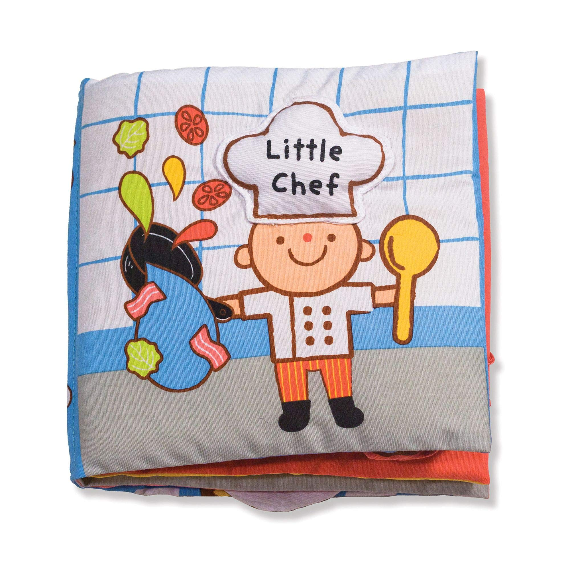 Melissa & Doug Soft Activity Book – Little Chef, The Original (Developmental Toys, Cloth Lift-the-Flap Baby Book, Machine Washable, Great Gift for Girls & Boys - Best for Babies & Toddlers)