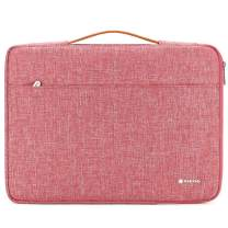 "NIDOO 13 inch Laptop Sleeve case Notebook Bag Protective Handbag for 13"" MacBook Air / 13.5"" Surface Book / 13.3"" ThinkPad L380 L390 Yoga / 13.9"" Lenovo Yoga C930 / 14"" HP EliteBook 1040, Red"