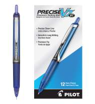 PILOT Precise V7 RT Refillable & Retractable Liquid Ink Rolling Ball Pens, Fine Point, Blue Ink, 12 Count (26068)