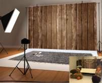 Yeele Brown Wood Backdrop 10x8ft Retro Dark Wood Floor Board Photography Background Kids Adult Artistic Portrait Photo Booth Photoshoot Studio Props Video Drape Wallpaper