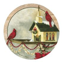 Thirstystone Drink Coaster Set, Christmas In The Garden