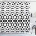 "Ambesonne Black and White Shower Curtain, Abstract Art Style Modern Monochrome Design of Triangles Illustration, Cloth Fabric Bathroom Decor Set with Hooks, 84"" Long Extra, White and Black"