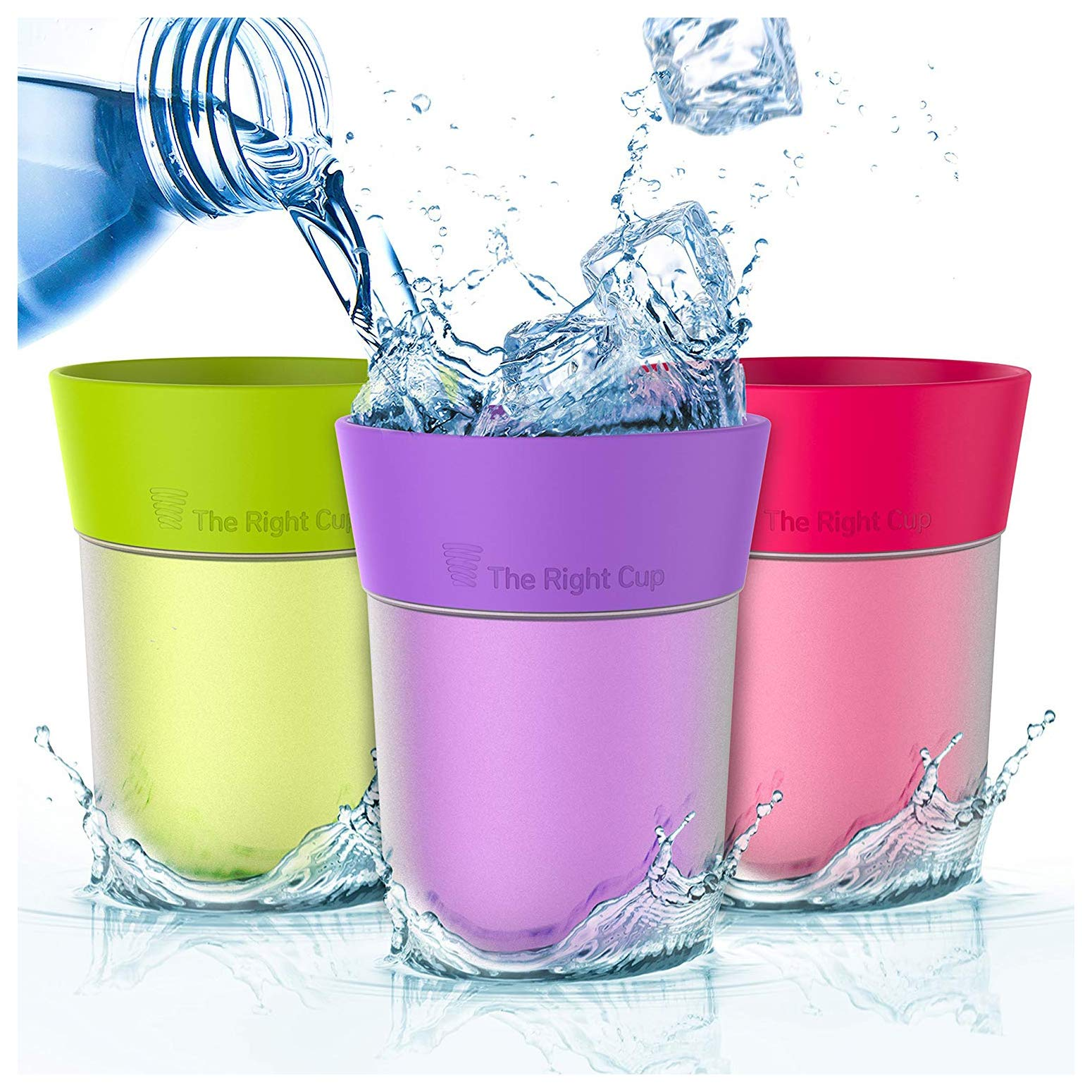 Flavored Water cup   Drink aromatic water and fewer beverages   For kids, women, men, weight loss   Kitchen gift idea   Reusable plastic   tumbler cold water   Sugar free, BPA free By The Right Cup