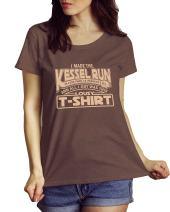 LeRage I Made The Kessel Run Han Solo Brown Heathered Shirt Women's