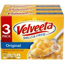 Velveeta Original Shells and Cheese Dinner (12 oz Boxes, Pack of 3)