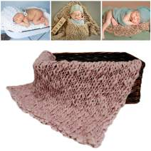 M&G House Newborn Wrap Baby Photography Wool Wrap Baby Photo Props Baskets Filler Rug Light Purple