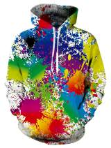 TUONROAD Mens Womens Fashion Hoodies All Over Printed Unique Pattern Sweatshirt Spring Autumn