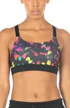icyzone Sports Bras for Women - Activewear Strappy Padded Workout Exercise Yoga Tops Bra