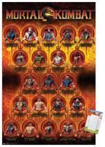 "Trends International Mortal Kombat-Grid Mount Wall Poster, 14.725"" x 22.375"", Premium Poster & Mount Bundle"