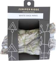 Juniper Ridge California White Sage Incense Mini Smudge Wands - Aromatherapy & Calming Meditation Therapy - Organic with No Synthetic Fragrance - Pack of 2