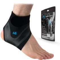 BLUE PINE Ankle Support Adjustable Lightweight Ankle Brace Breathable Material Ankle Sleeve for Men and Women, Single Unit (Right, Small)