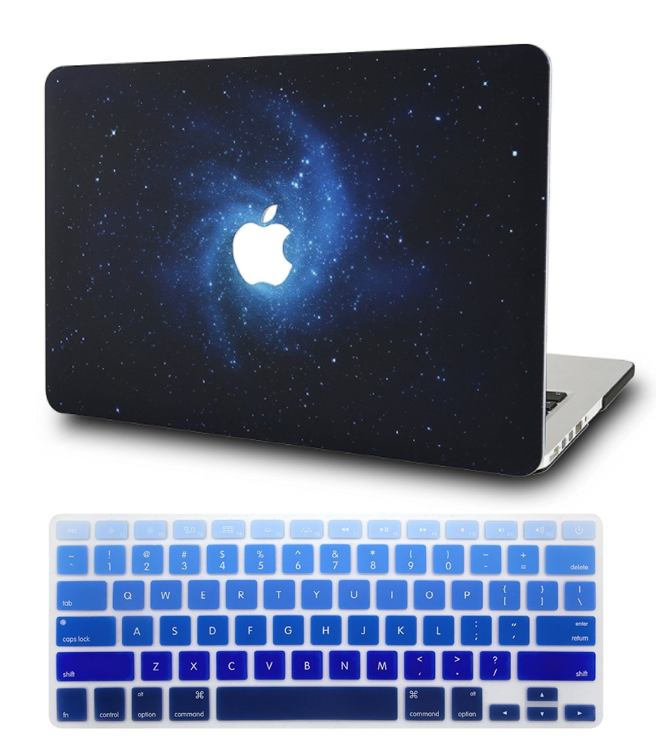 """KECC Laptop Case for MacBook Air 13"""" Retina (2020/2019/2018, Touch ID) w/Keyboard Cover Plastic Hard Shell Case A2179/A1932 2 in 1 Bundle (Blue)"""
