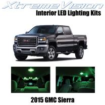 Xtremevision Interior LED for GMC Sierra 2015+ (2 Pieces) Green Interior LED Kit + Installation Tool