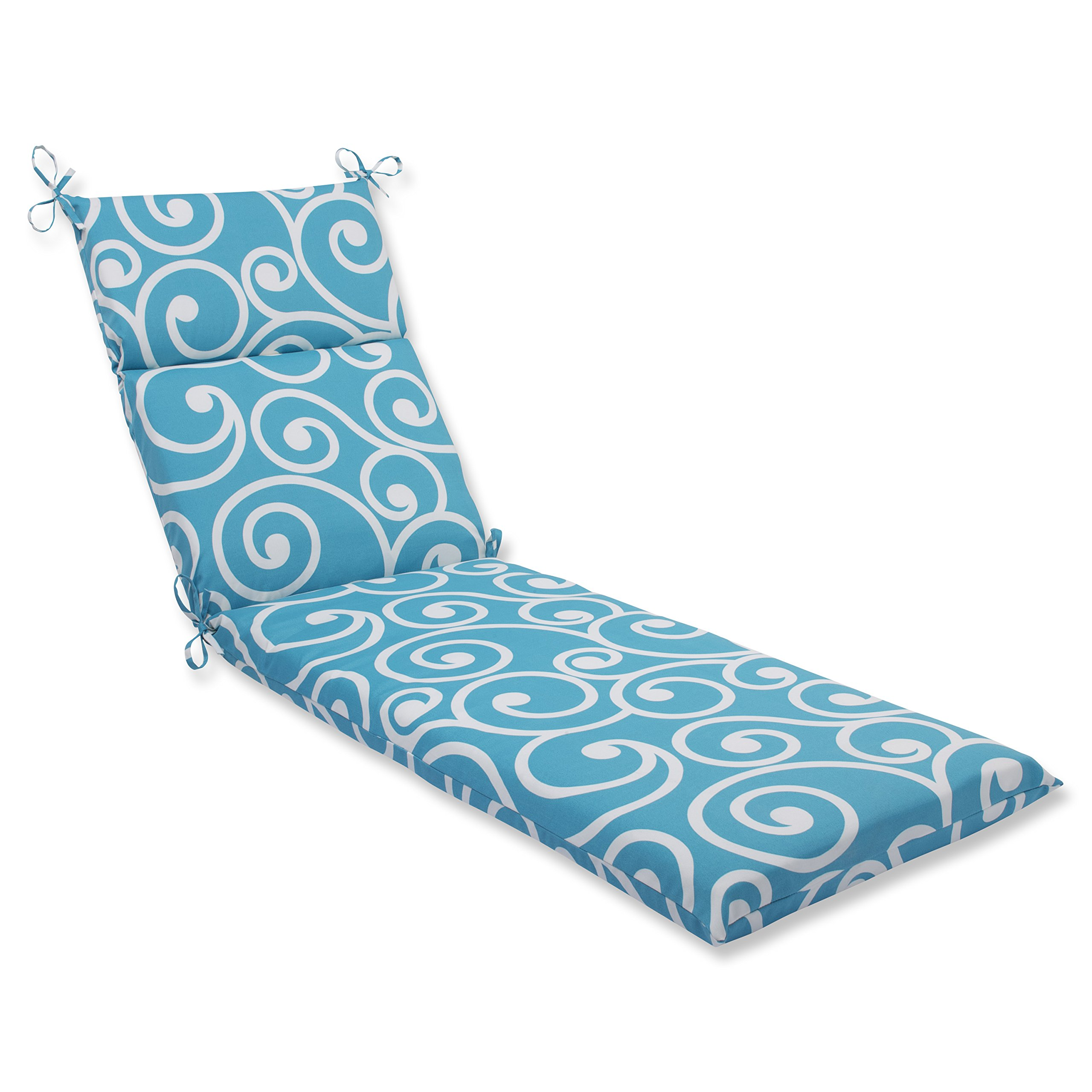"""Pillow Perfect 563411 Outdoor/Indoor Best Chaise Lounge Cushion, 72.5"""" x 21"""", Turquoise"""