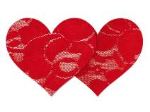 Nippies Style Red lace Heart Waterproof Self Adhesive Nipple Cover Pasties