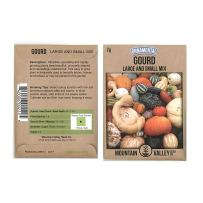 Gourd Garden Seeds - Large & Small Grouds Mix - 2 Gram Packet ~23 Seeds - Non-GMO, Heirloom Vegetable Gardening Seed - Cucurbita Pepo