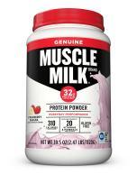 Muscle Milk Genuine Protein Powder, Strawberry Banana, 32g Protein, 2.47 Pound